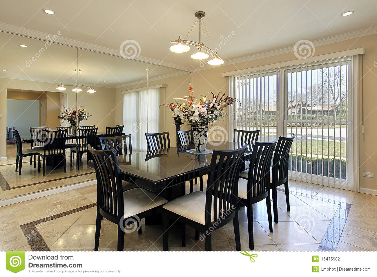 stock photography dining room black table image