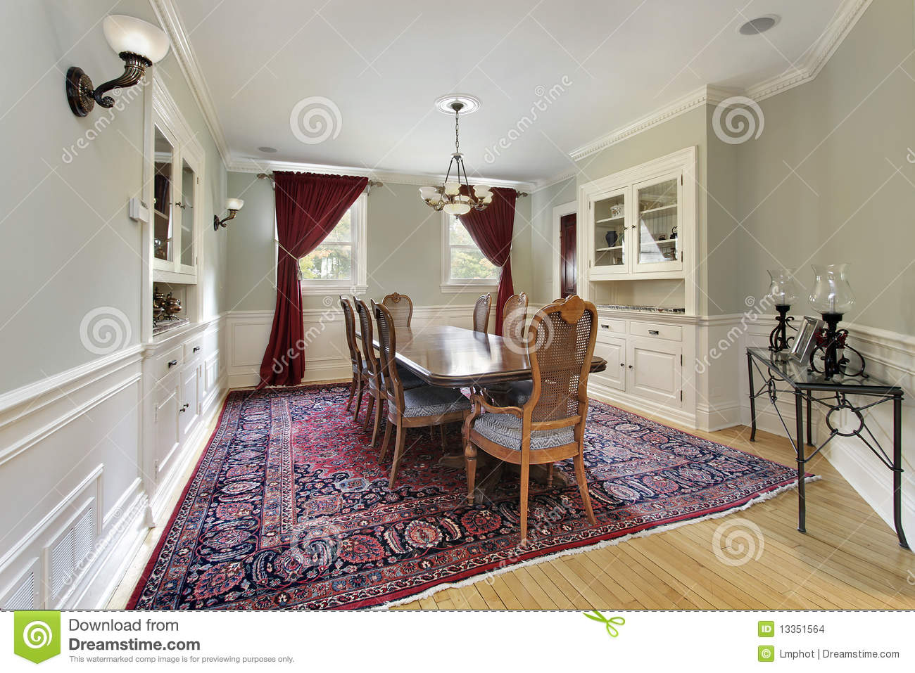 Dining room with built ins stock images image 13351564 - Dining room built ins ...