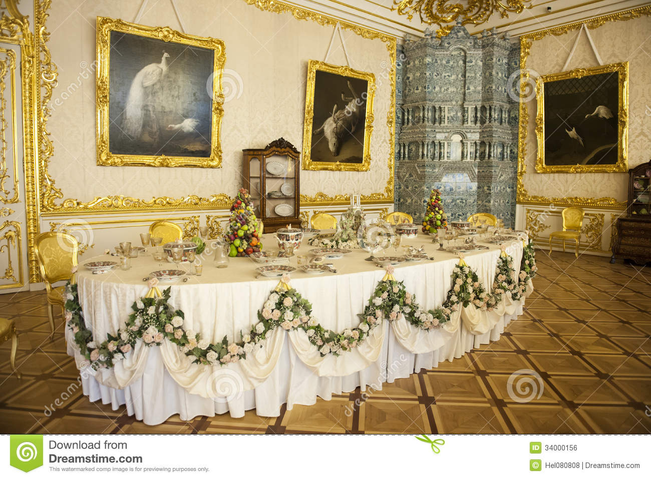 Dining Room Catherine Palace St Petersburg Editorial