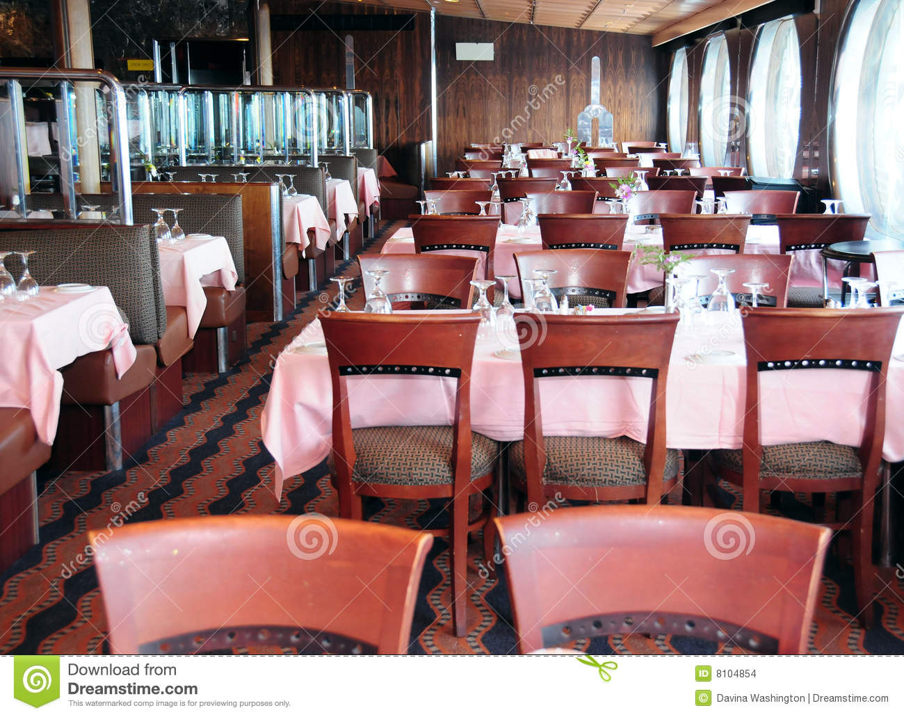 Dining Room On Cruise Ship Stock Photo Image Of Table