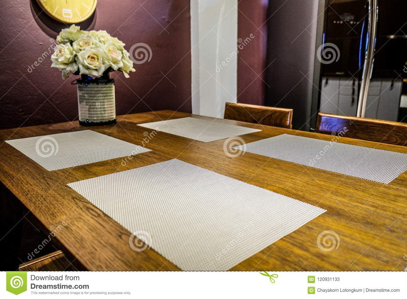 Dining Room with dining textile and place mat