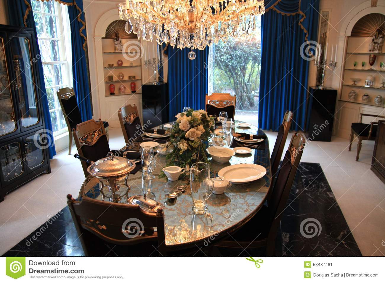 Fabulous Dining Room At Elvis Presleys Graceland Editorial Photo Download Free Architecture Designs Crovemadebymaigaardcom