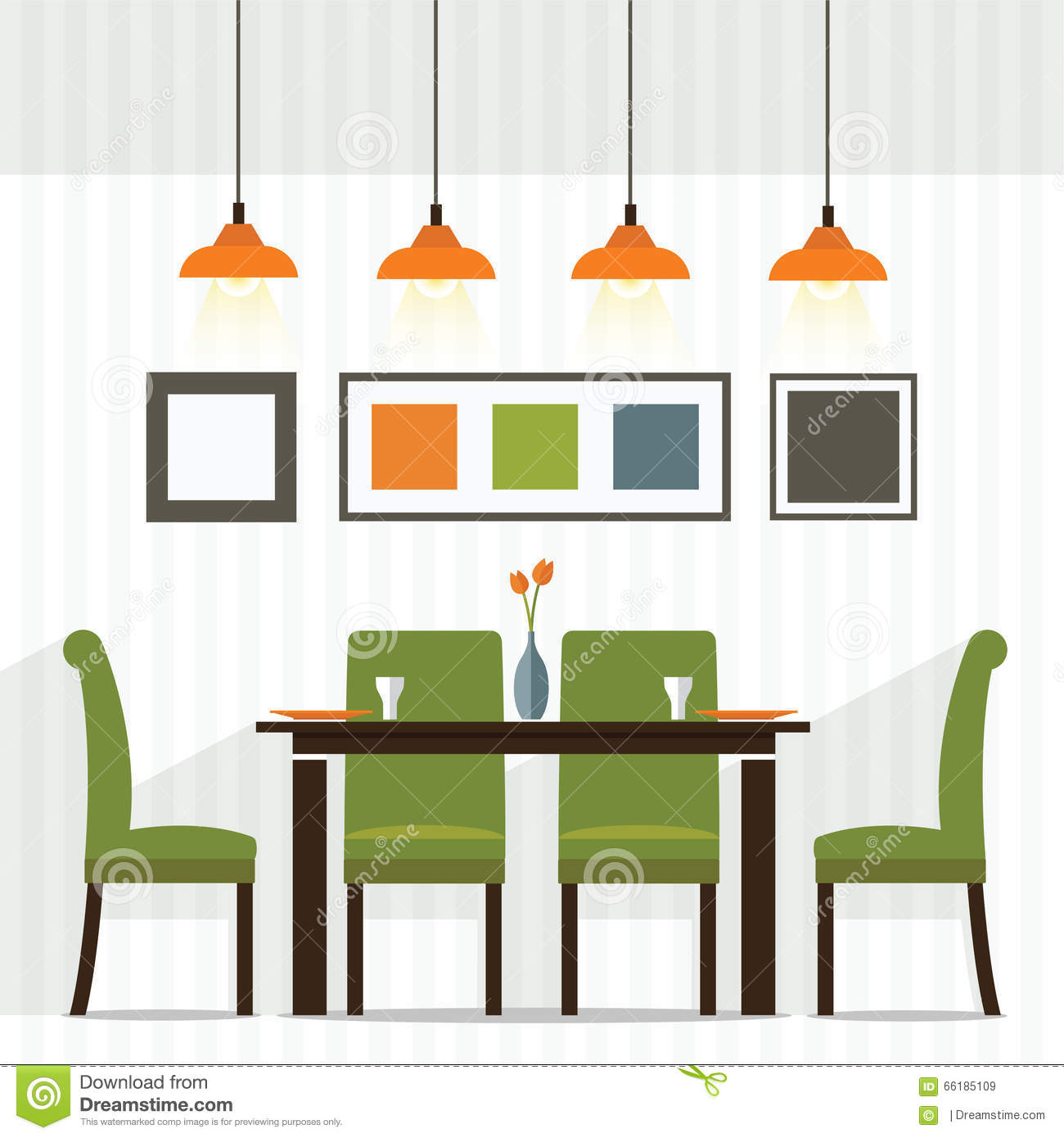Dining room stock vector image 66185109 for Room design vector