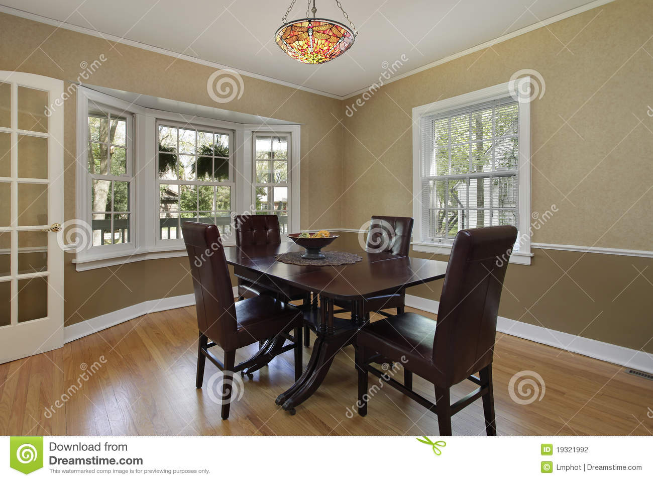 dining room with french door stock photography image 19321992