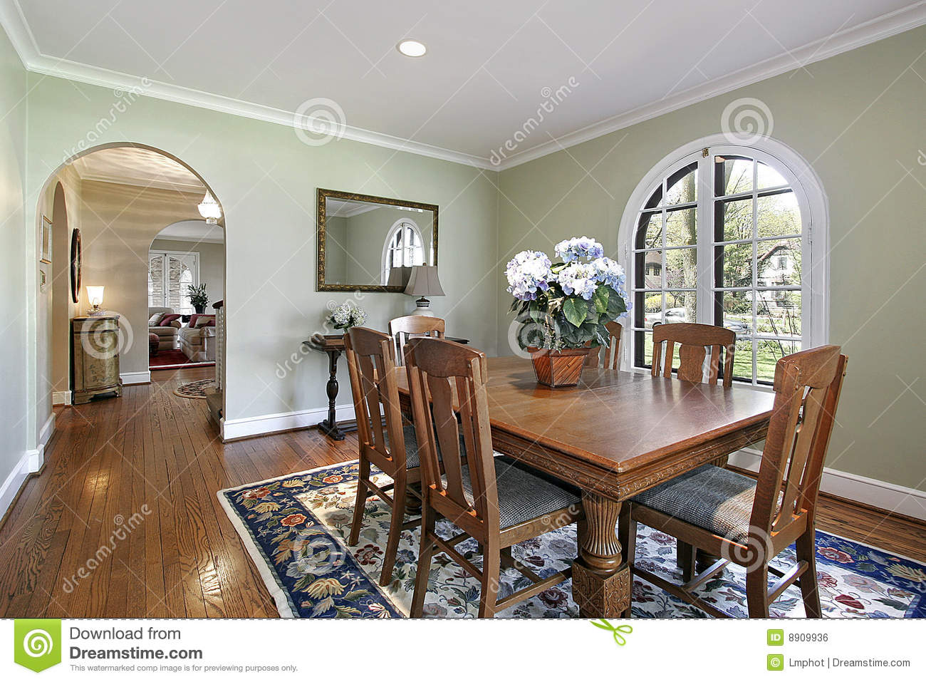 Rooms With Green Walls Captivating Of Dining Room with Green Walls Photo