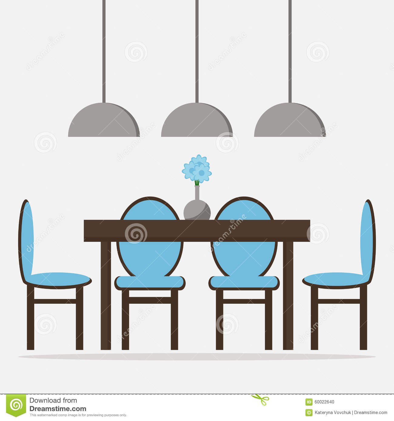 Dining room isolated icon stock vector image