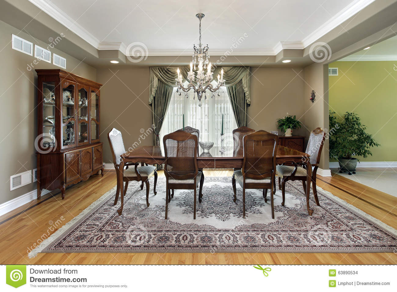 dining room with large carpet stock photo image 63890534
