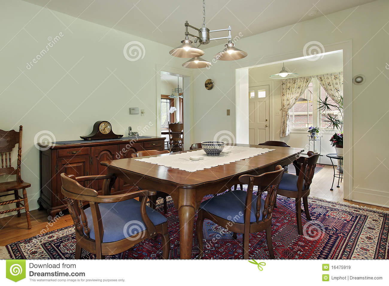Dining room with lime green walls royalty free stock for Lime green dining room ideas