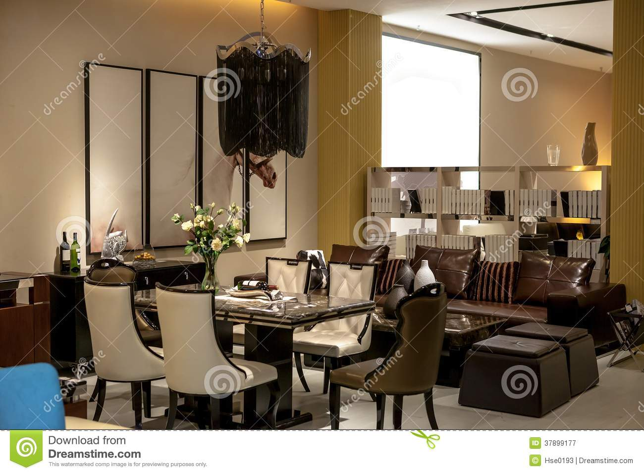 dining room and lounge area royalty free stock photography - image