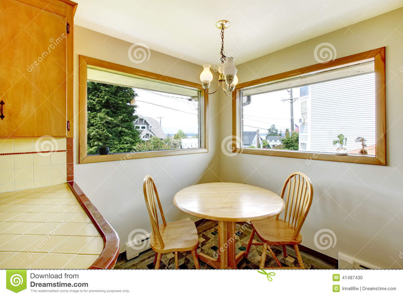 Picture of: Dining Room With Rustic Table Set Stock Photo Image Of Property Building 41487430