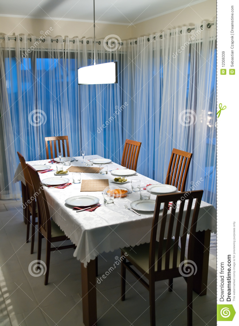 Dining Room Table Royalty Free Stock Images Image 12306339