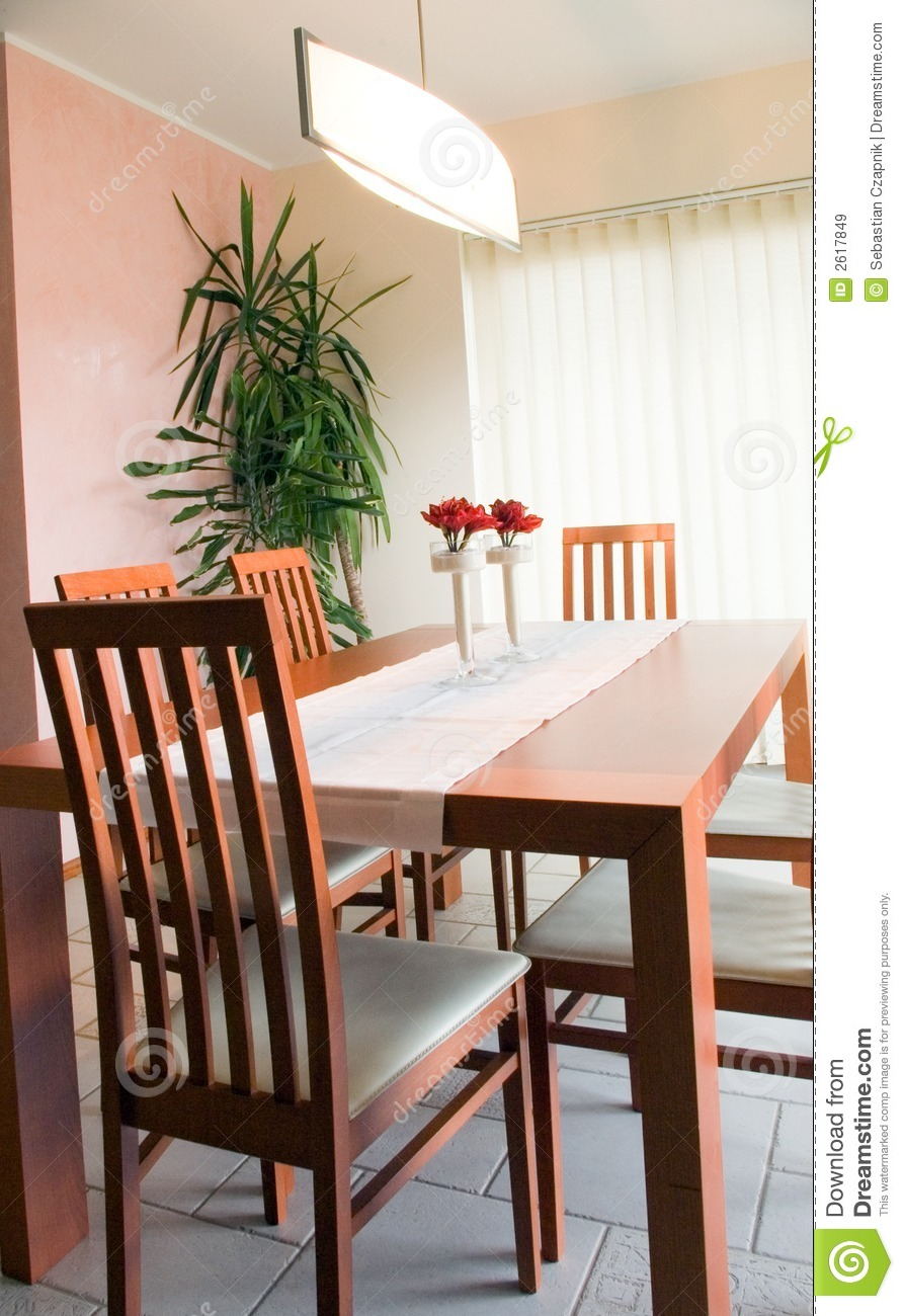Dining Room Table Royalty Free Stock Images Image 2617849