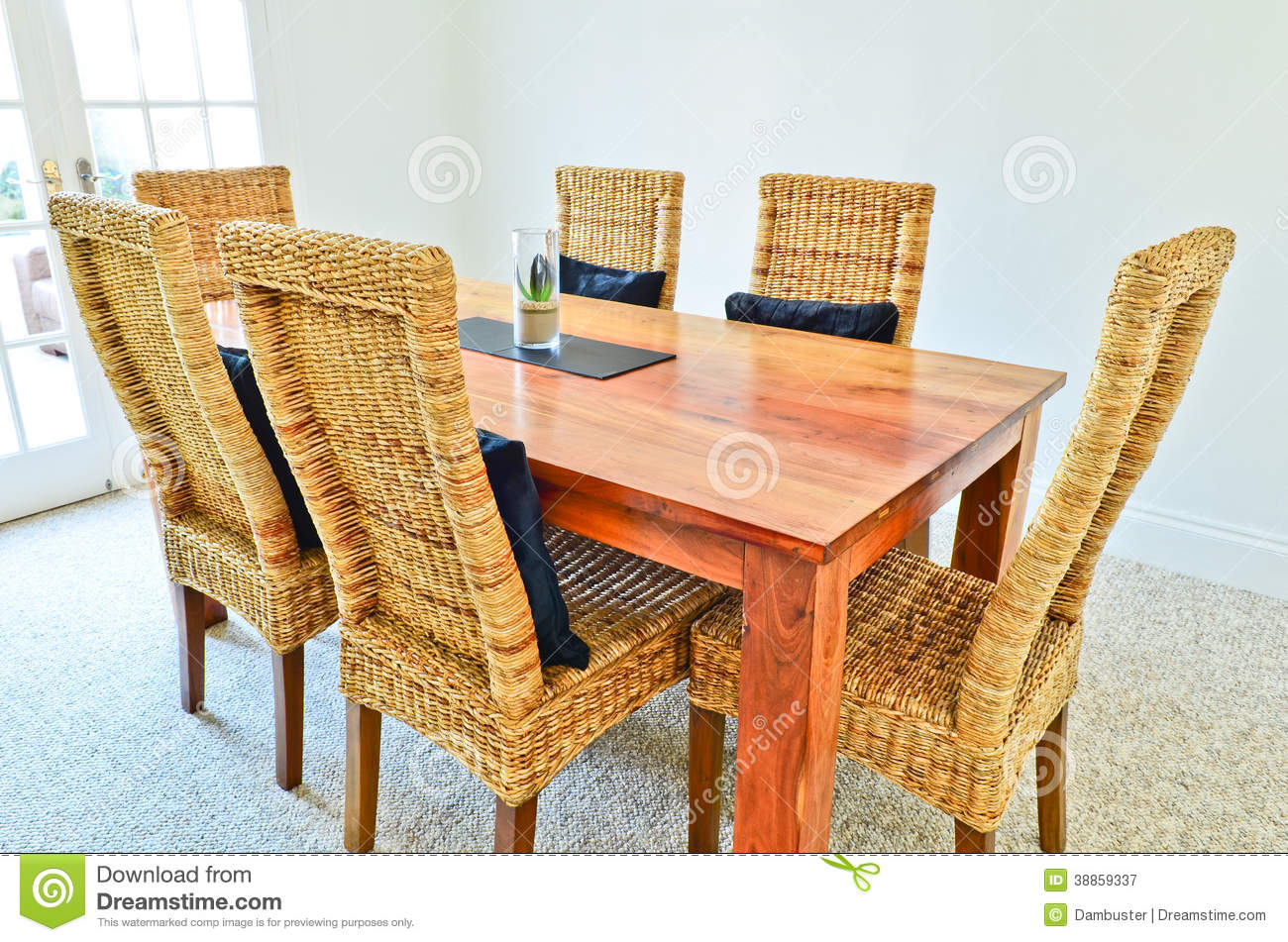 dining room table and chairs stock photo image 38859337