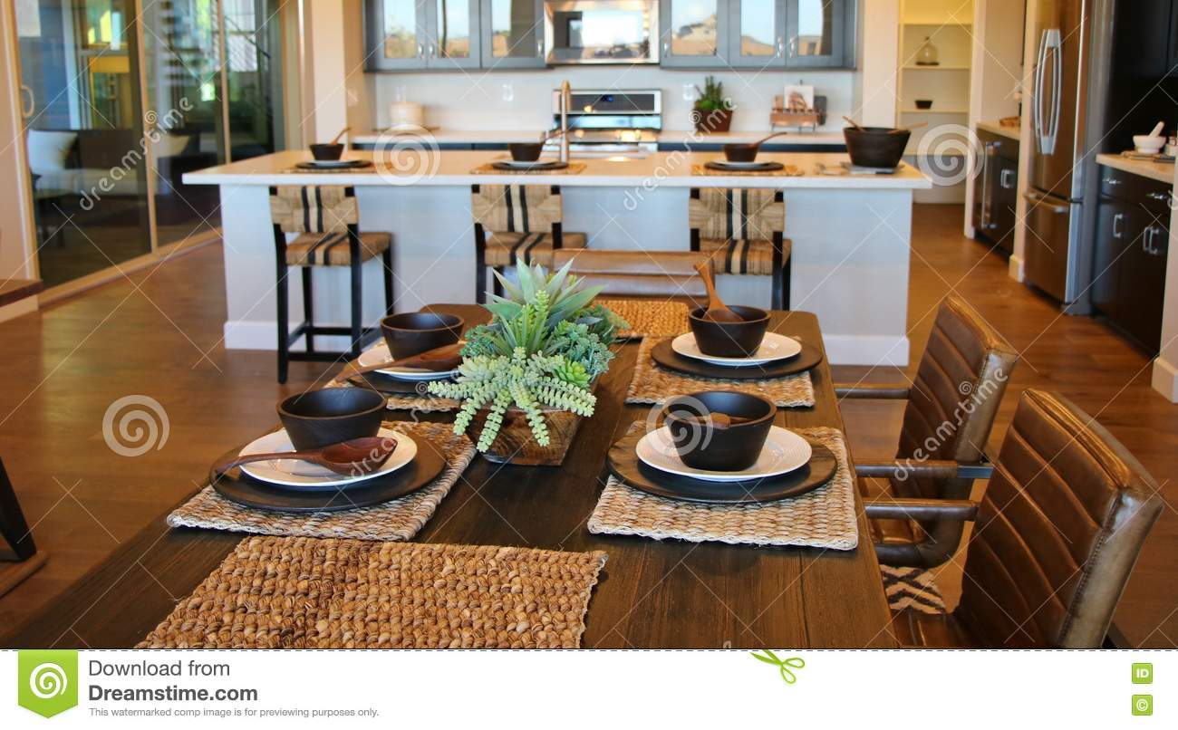 background center dining dinner kitchen piece room setting stylish table - Dining Room Table Settings