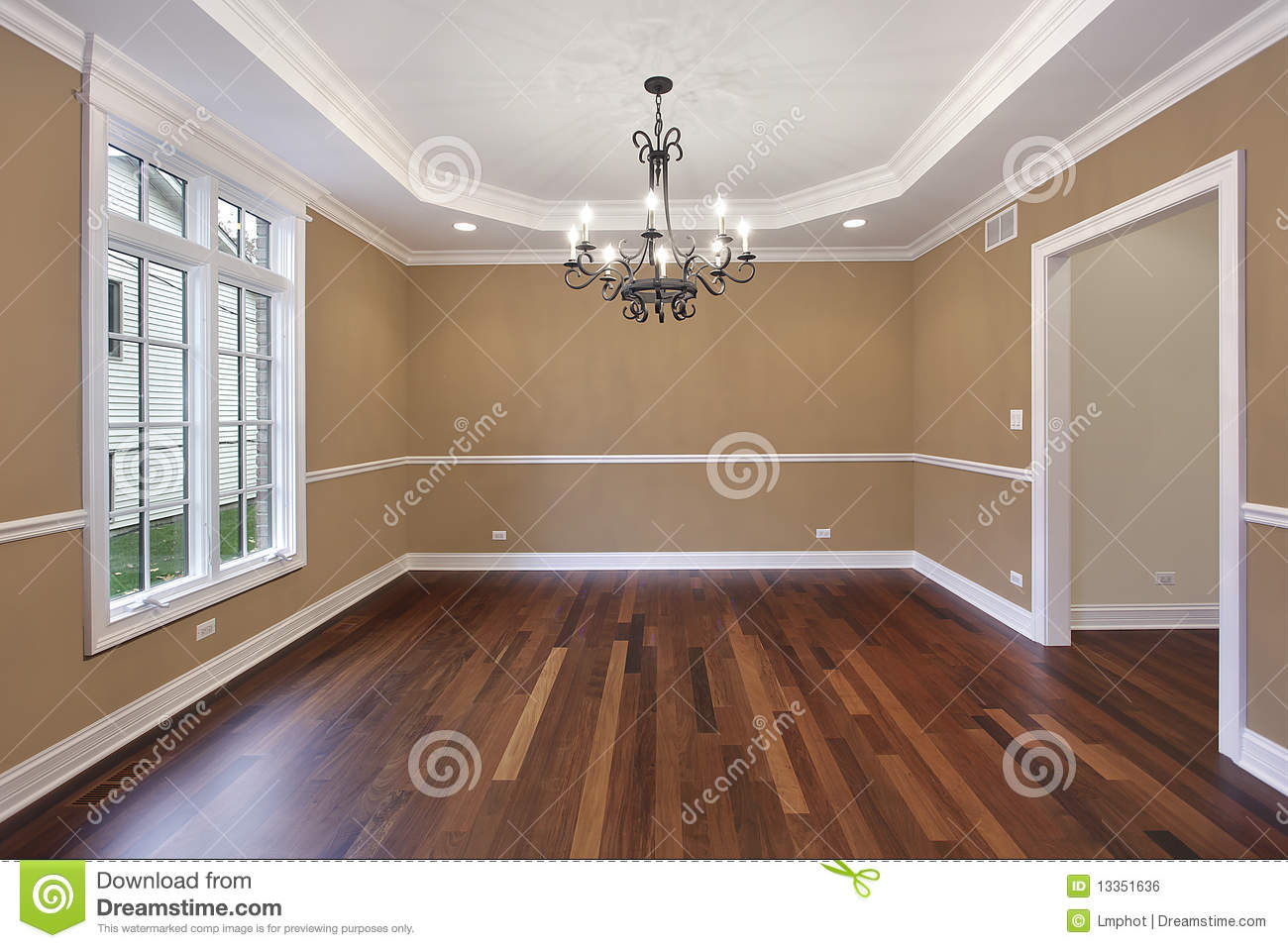 Dining Room With Tan Walls Stock Photo Image Of Design