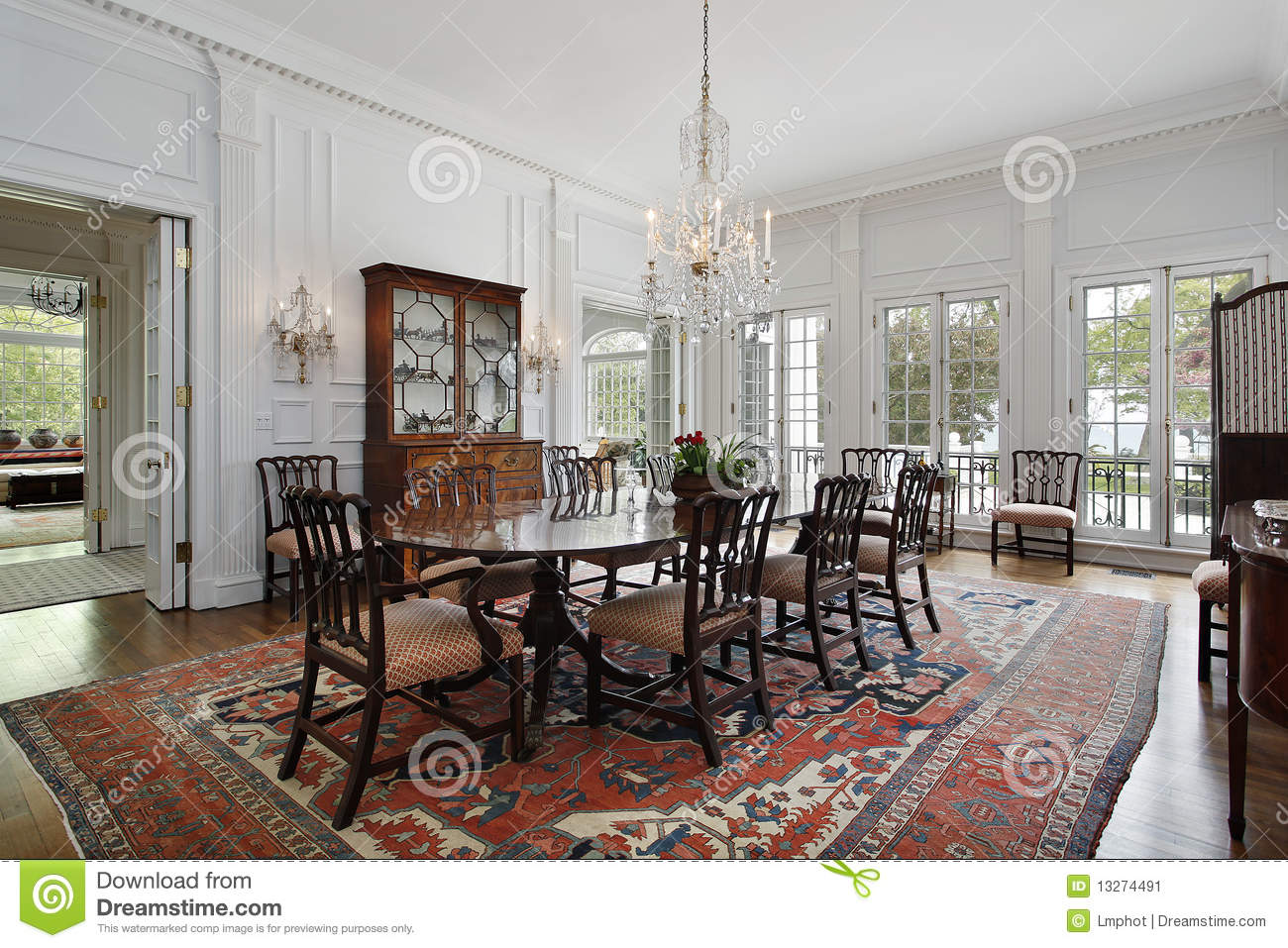 Dining Room In Traditional Home Stock Image Image Of Supper Furniture 13274491