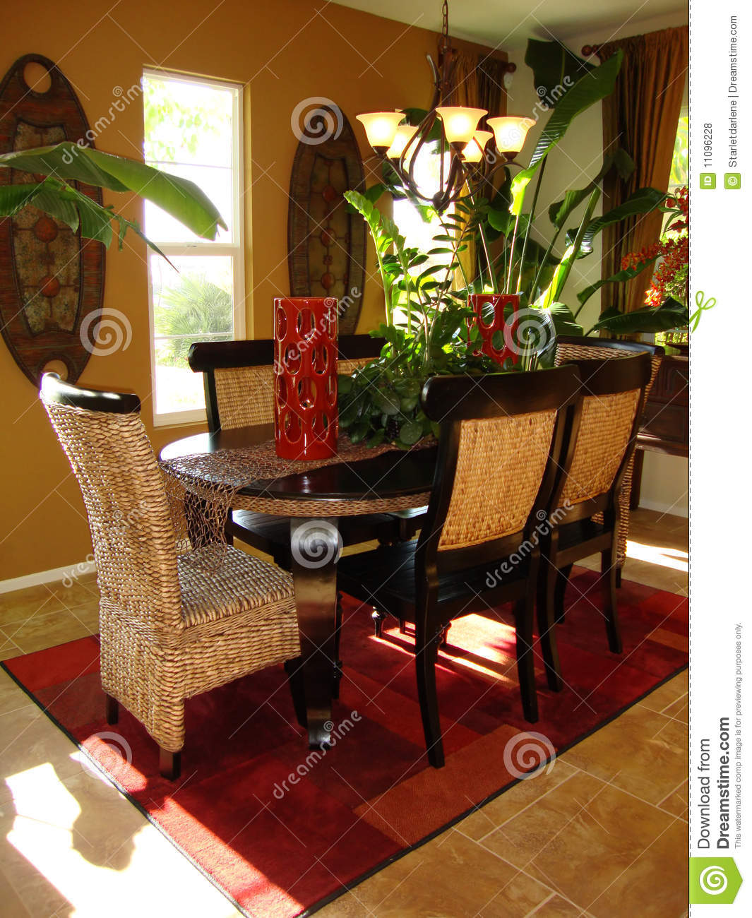 Dining room tropical stock photo image of chairs window for Tropical dining room
