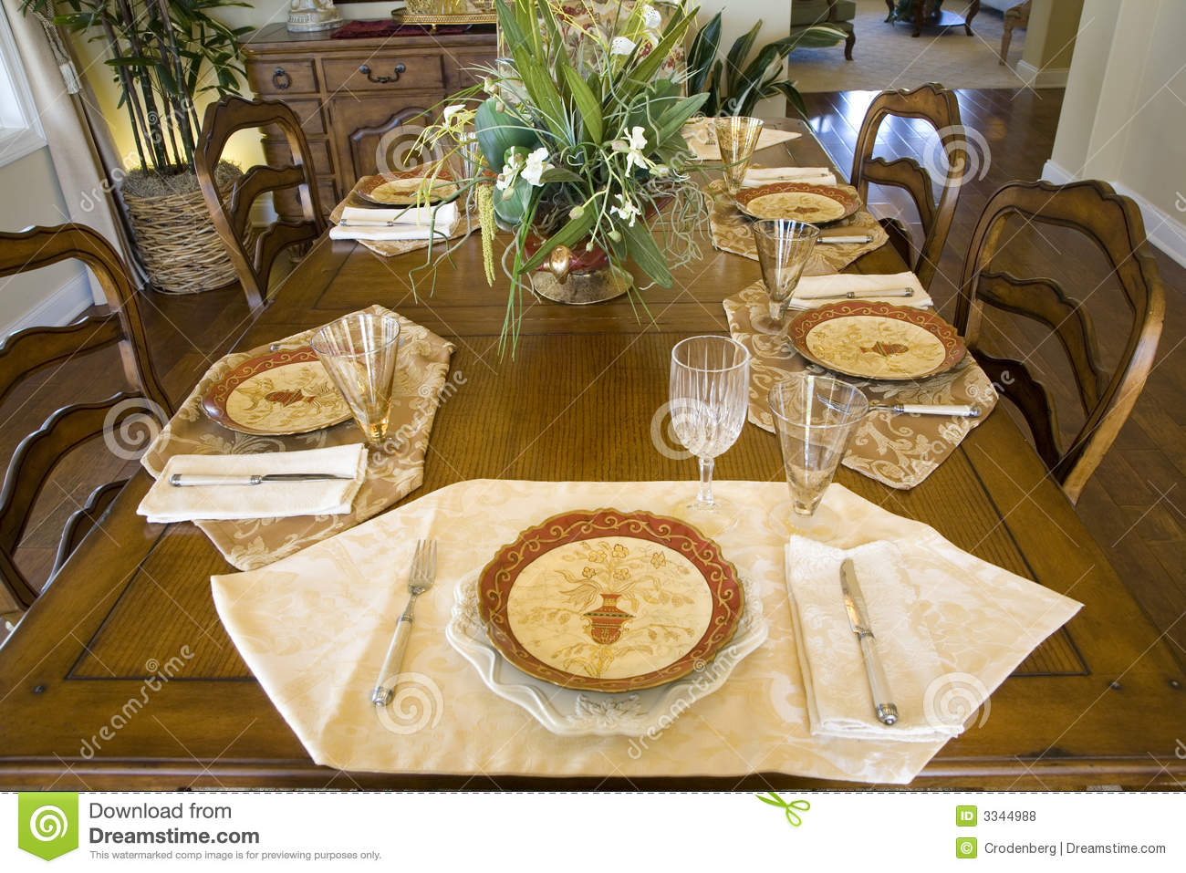 Dining Table 2047 Royalty Free Stock Photos Image 3344988