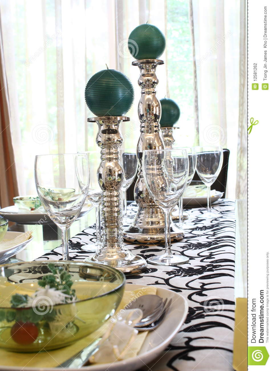 Dining Table Arrangement Stock Photo Image Of Tableware