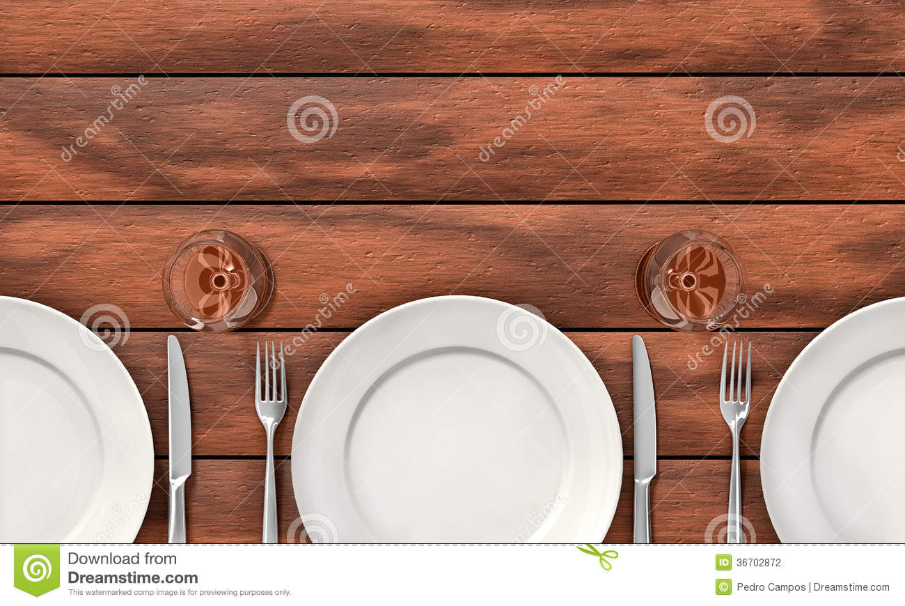 Wooden dining table background - Background Dining Knife Table