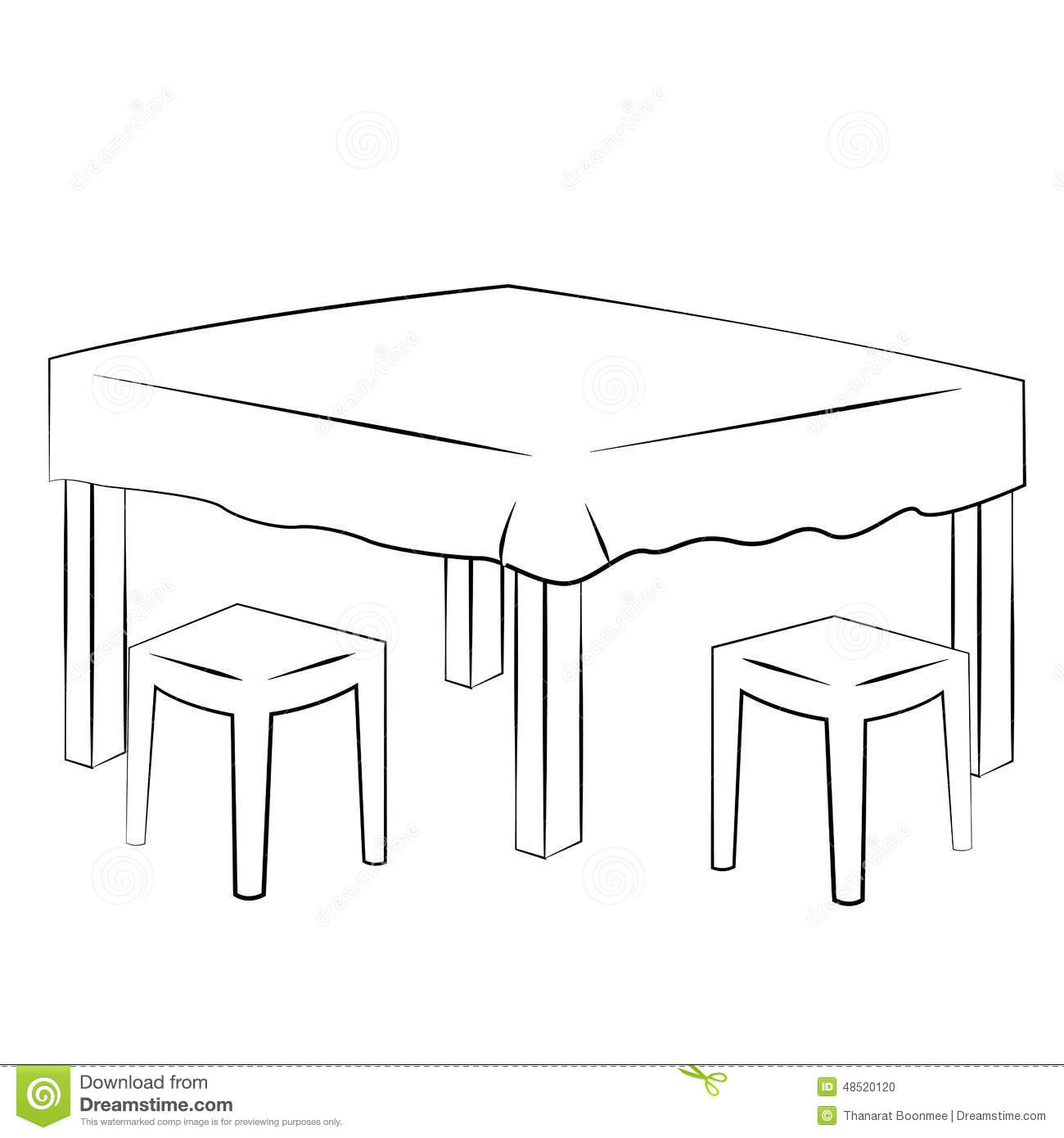 Dining Table Stock Vector Image 48520120