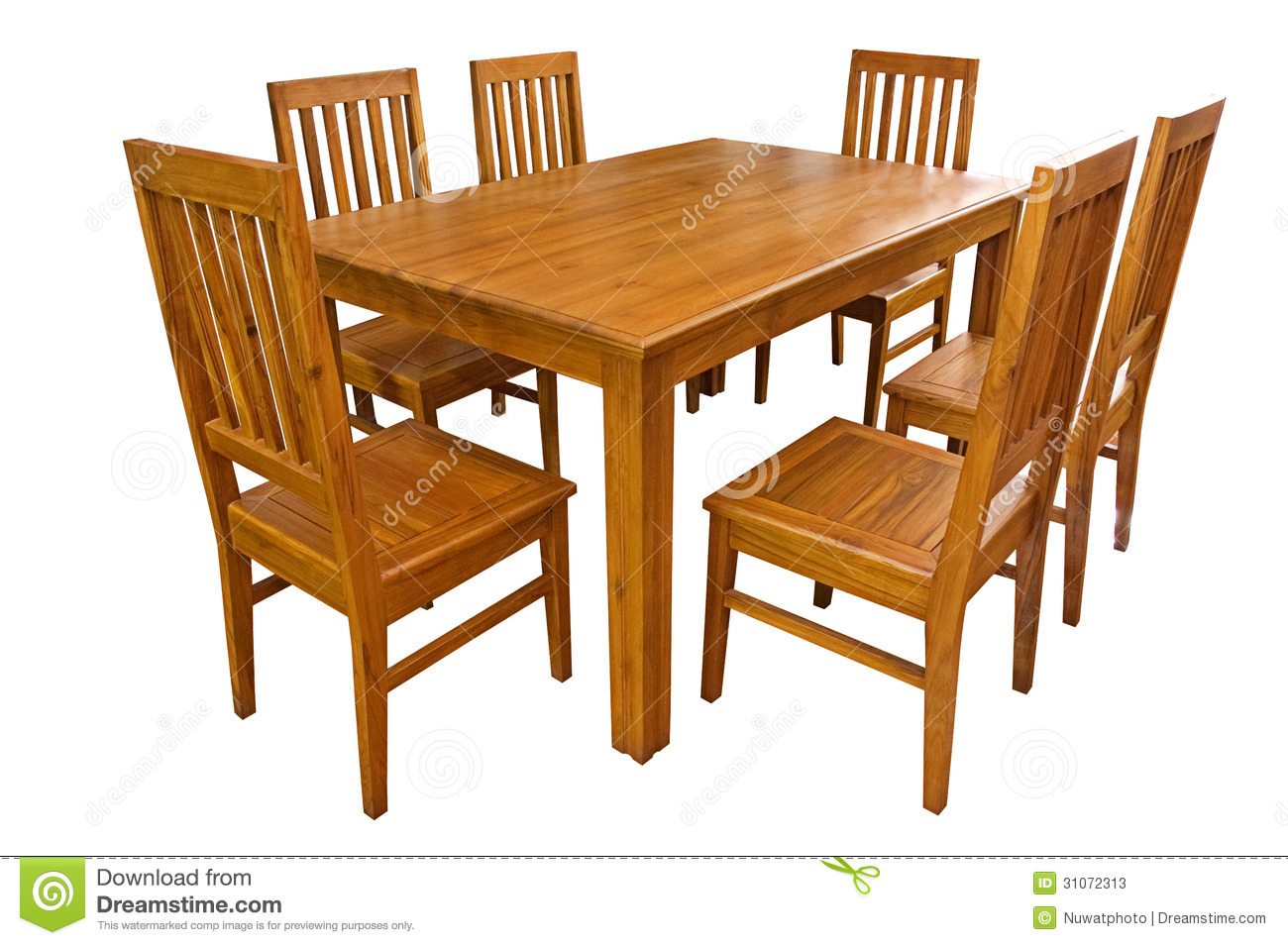 Dining Table And Chairs Isolated Stock Photos - Image: 31072313