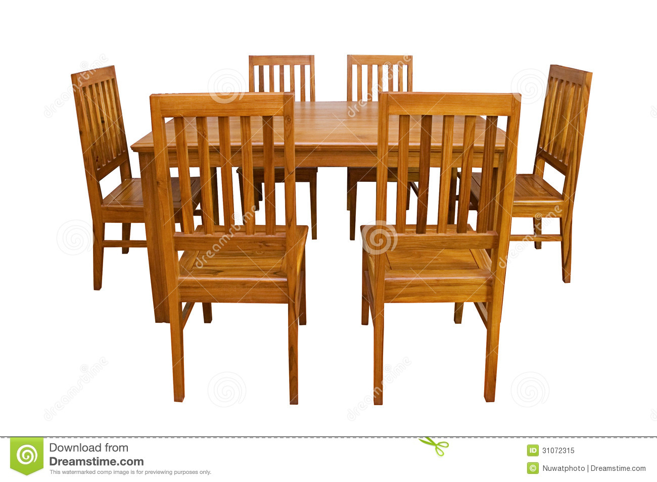 Dining Table And Chairs Isolated Stock Image Image 31072315