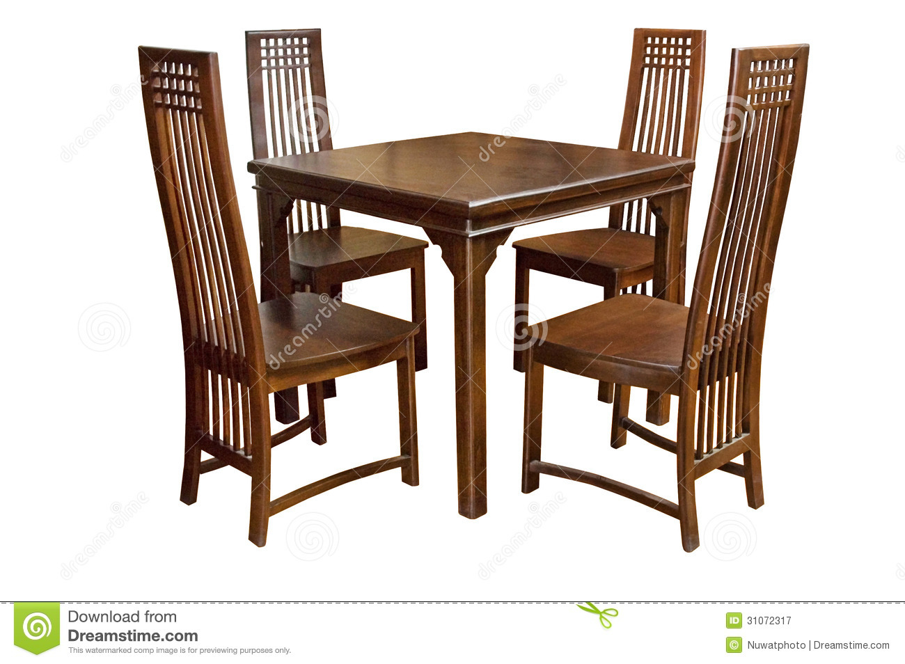 Dining Table And Chairs Isolated Royalty Free Stock  : dining table chairs isolated white background 31072317 from www.dreamstime.com size 1300 x 954 jpeg 270kB