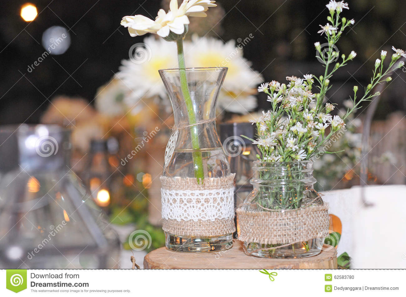 Dining Table Decoration Wedding Day Stock Photo Image Of Bouquet