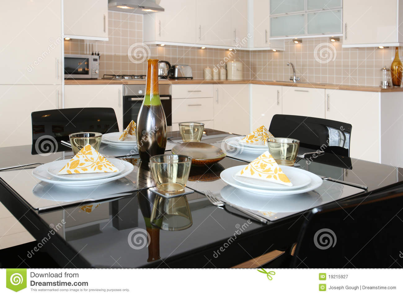 Dining Table In Modern Open Plan Apartment Royalty Free  : dining table modern open plan apartment 19215927 from www.dreamstime.com size 1300 x 955 jpeg 130kB