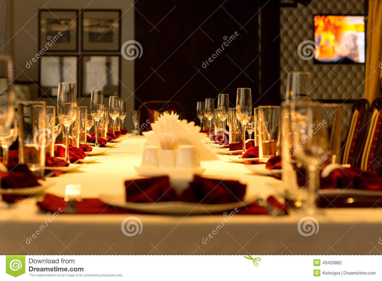 Royalty Free Stock Photo Download Dining Table Set With Elegant