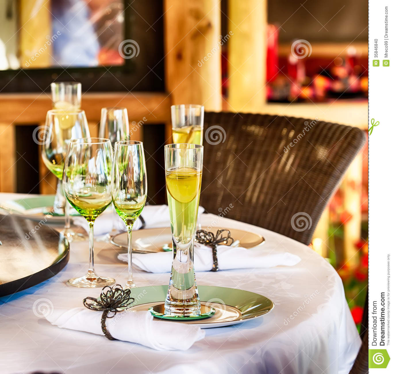 Dining Table Set For A Party With Glasses And Tablecloth.. Full resolution  portraiture, nominally Width 1371 Height 1300 pixels, portraiture with #B72814.