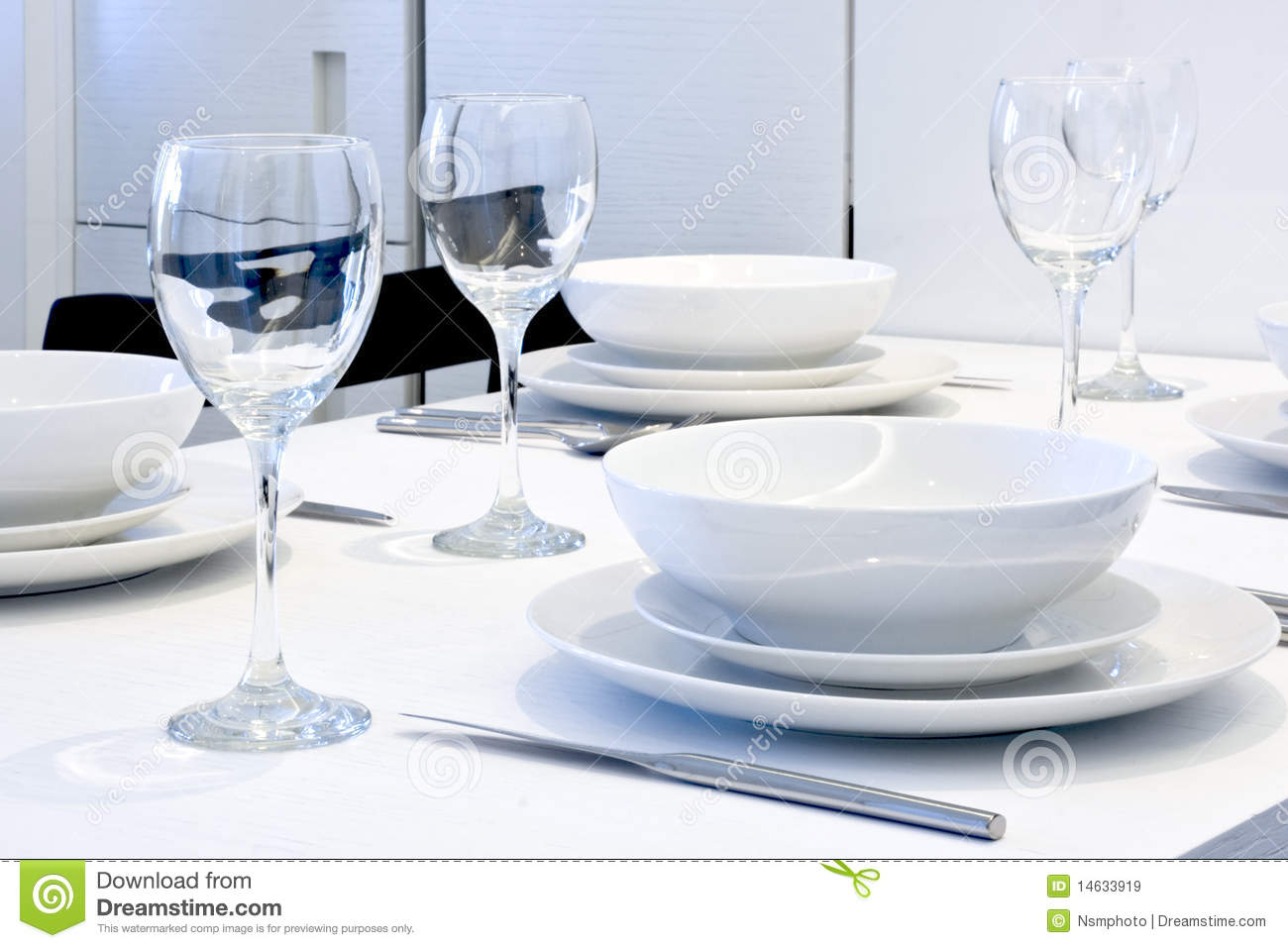 Dining Table Set Up Royalty Free Stock Images Image