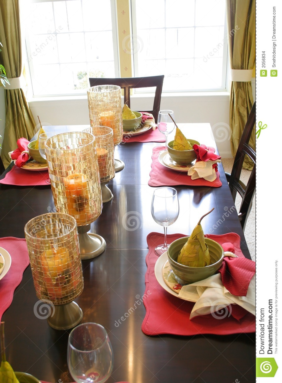 more similar stock images of dining table set up