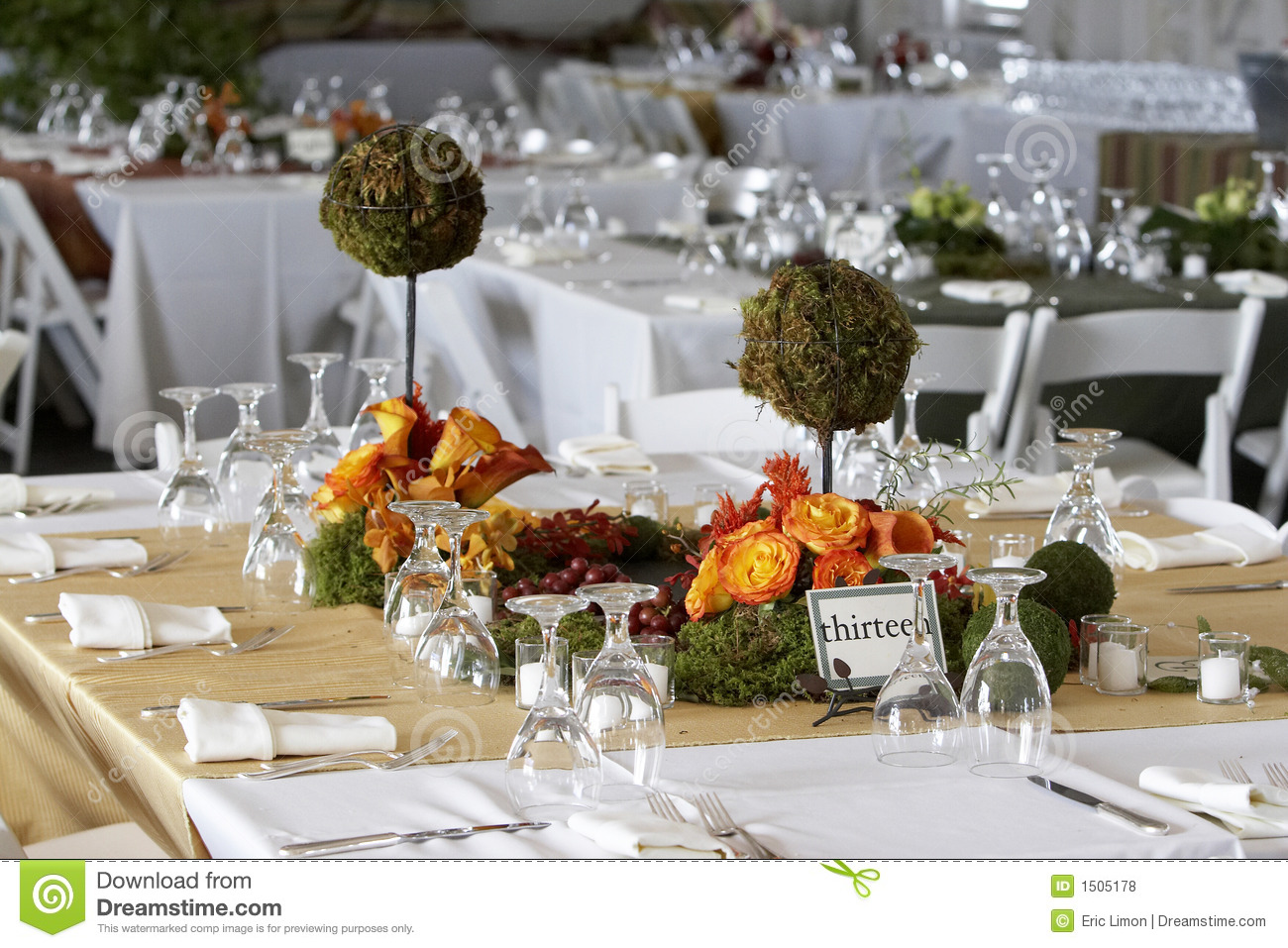 Dining Table Set For A Wedding Or Corporate Event Stock Photo - Image of detail banquets 1505178 & Dining Table Set For A Wedding Or Corporate Event Stock Photo ...