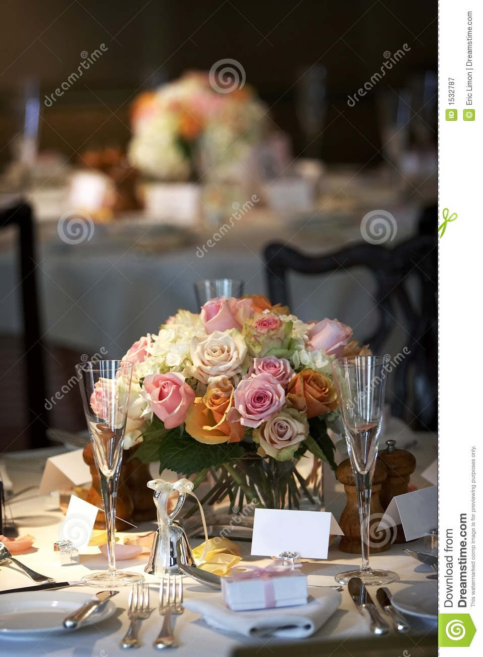 Dining Table Set For A Wedding Or Corporate Event Royalty