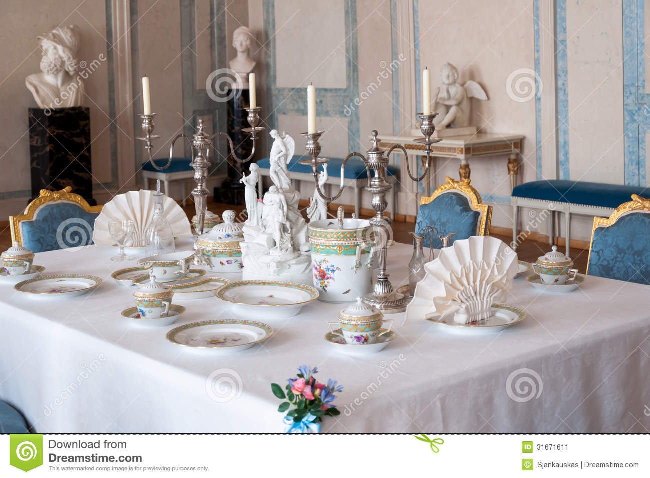 Dining room table setting royalty free stock image 69696664 - Dining room table settings ...