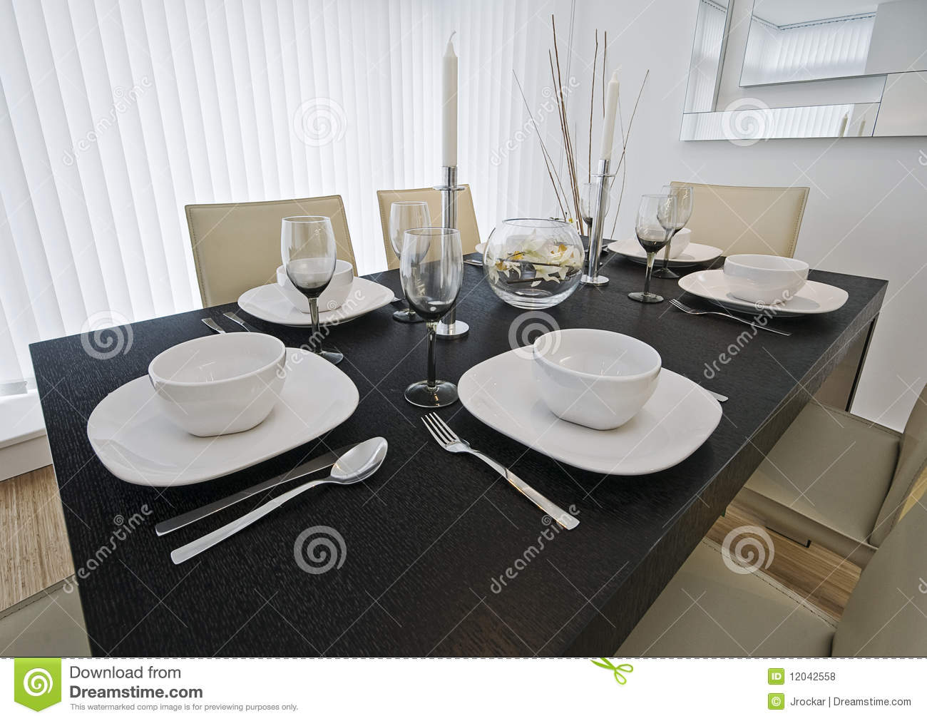Dining Table Setup Royalty Free Stock Photos