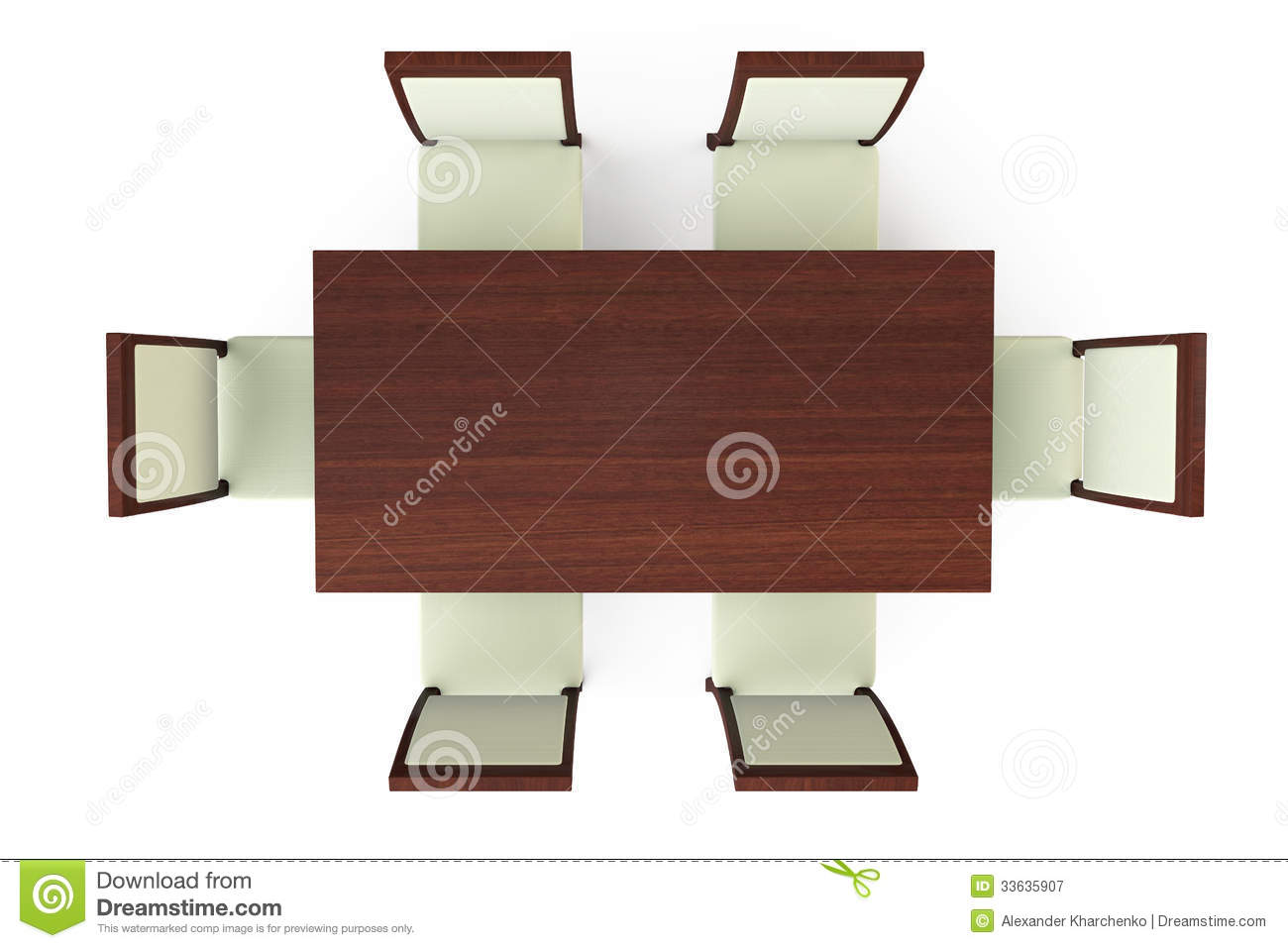 Dining Table With Six Chairs Royalty Free Stock
