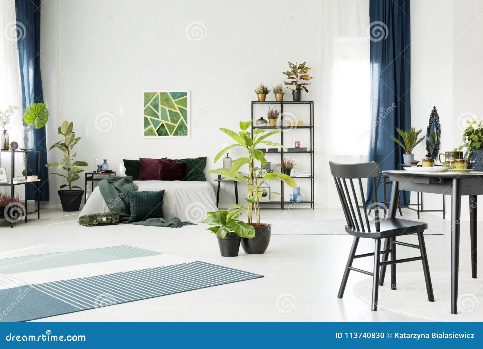 Stupendous Dining Table In Studio Interior Stock Photo Image Of Large Creativecarmelina Interior Chair Design Creativecarmelinacom