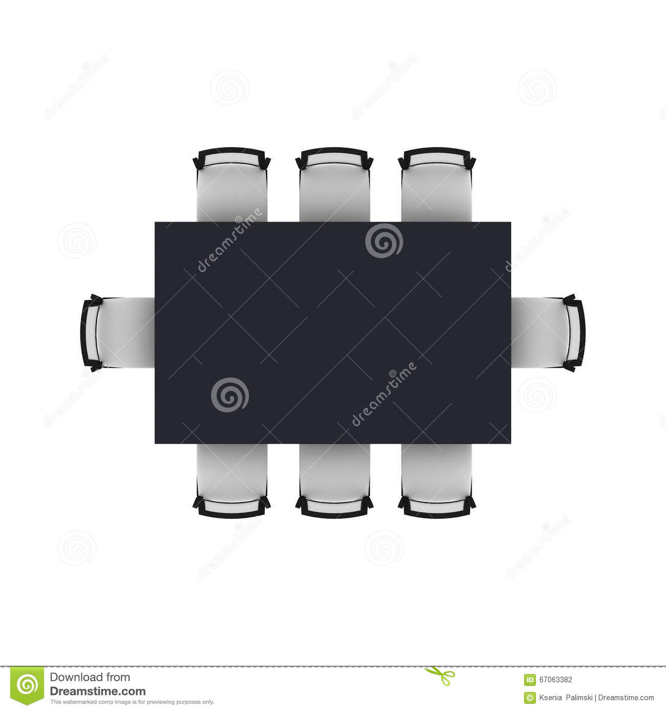 Dining Table Top View Stock Illustration Image 67063382