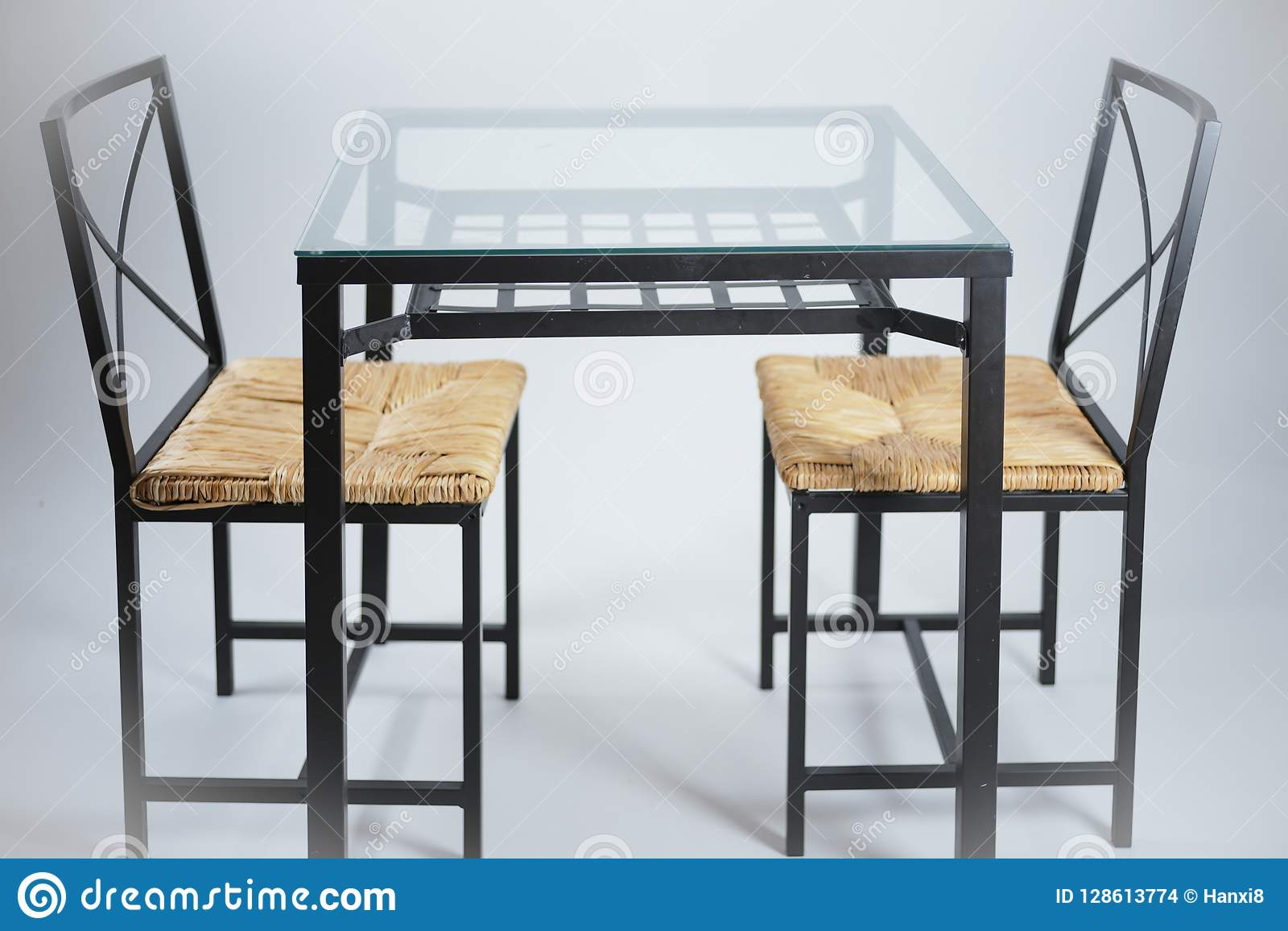 Dining Table With Two Chairs Stock Photo Image Of Style Interior 128613774