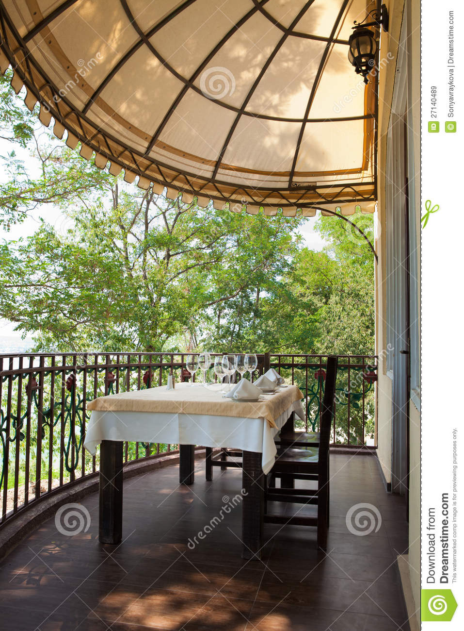 Dining on a terrace royalty free stock images image for Dinner on the terrace