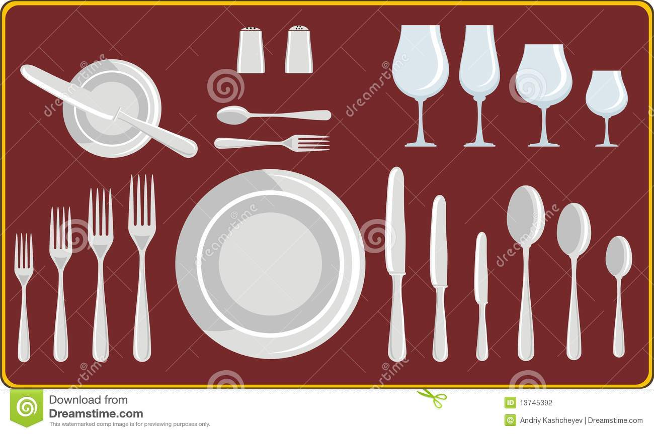 Dining utensils stock photography image 13745392 for Table utensils