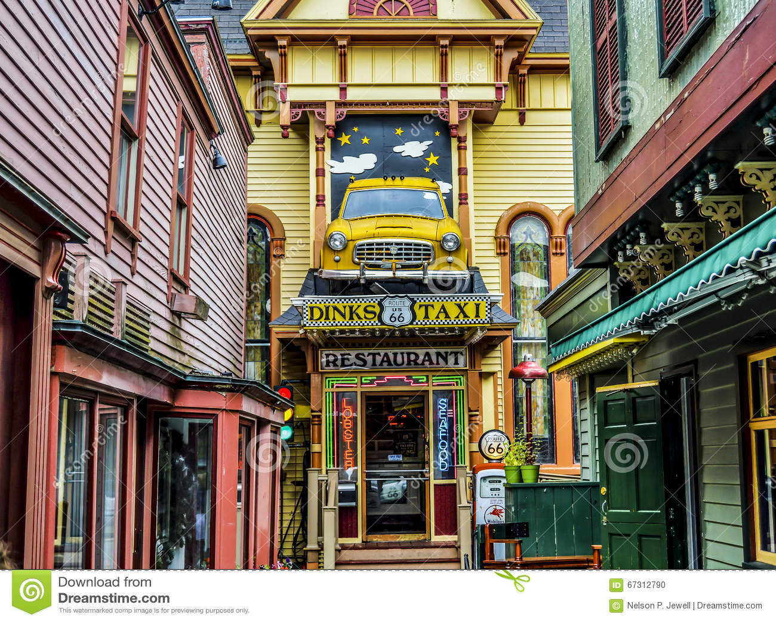 Taxi Restaurant Colorful Editorial Image Image Of Unique 67312790