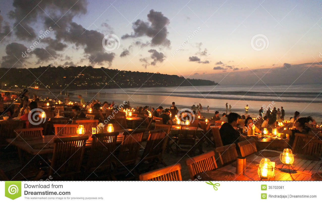 Dinner By The Beach Editorial Photo Image 35702081