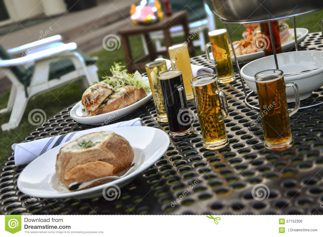 Dinner with beer stock photo. Image of oysters, oyster ...