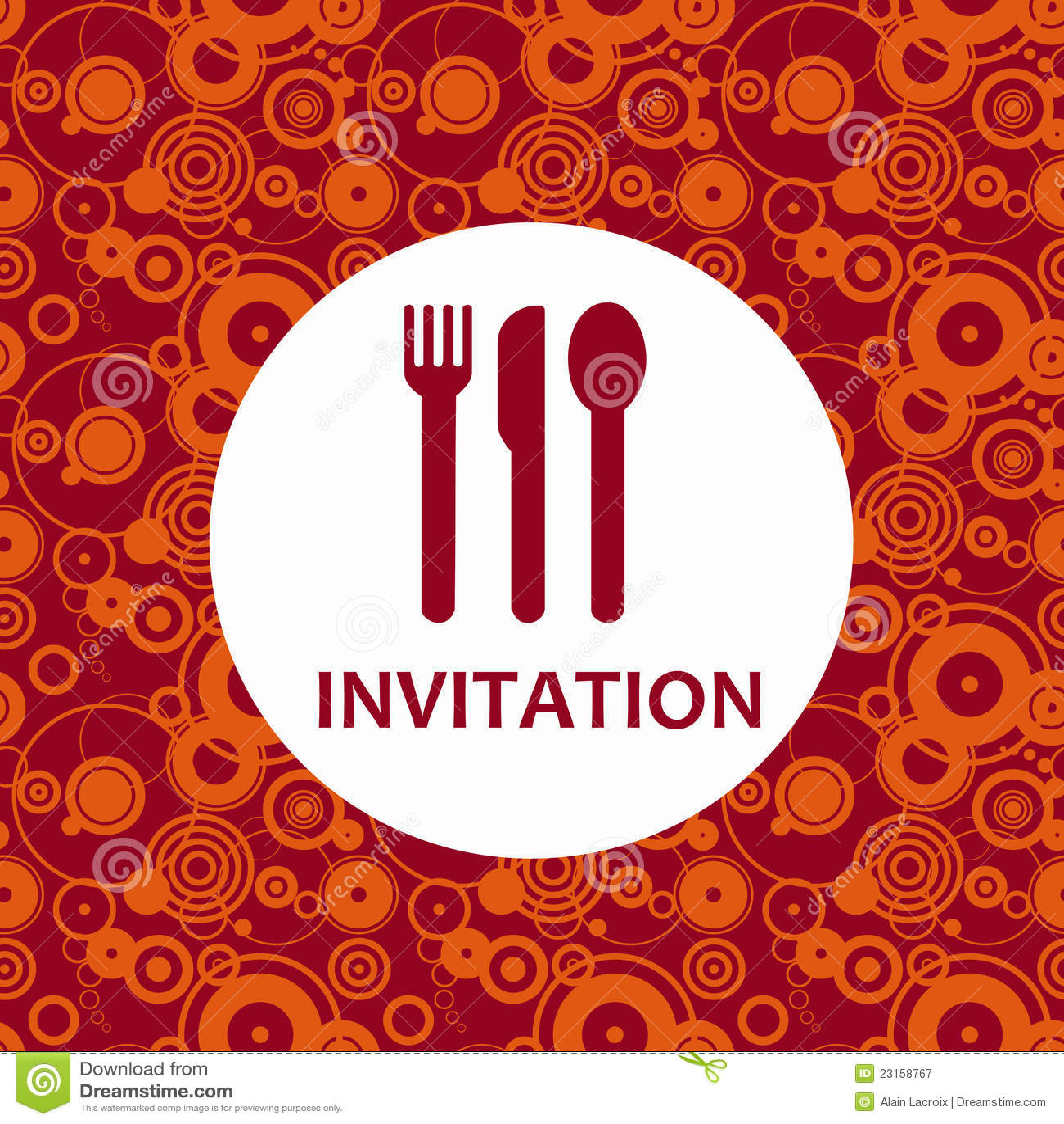 dinner invitation royalty free stock photography