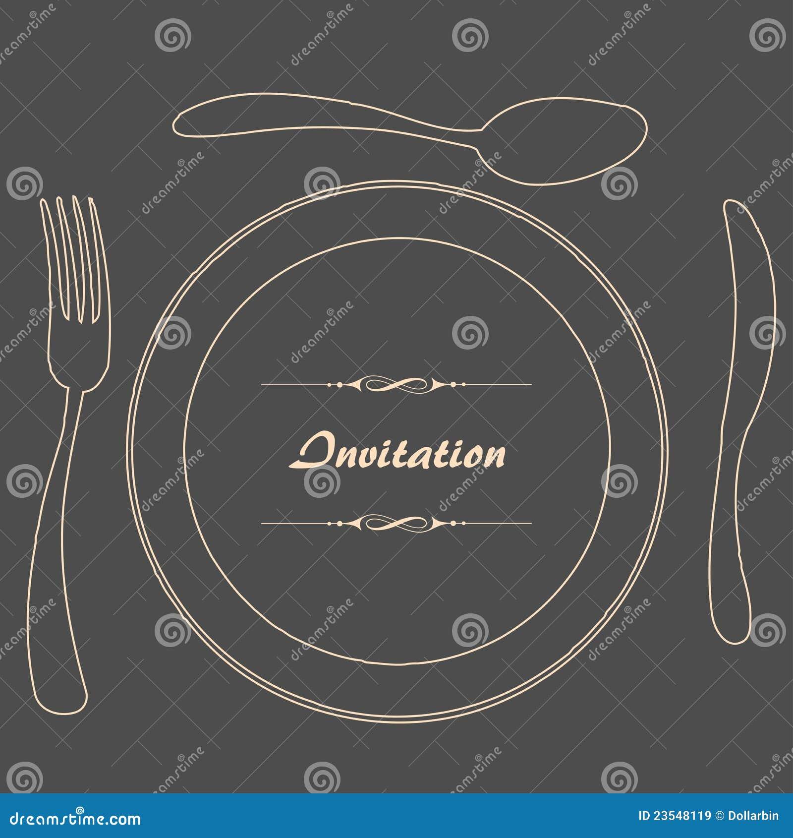dinner invitation stock vector illustration of gifttag 23548119