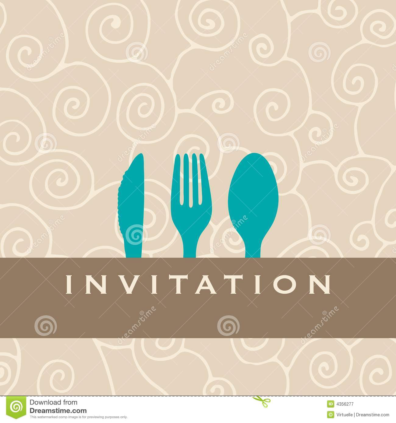 Dinner Invitation Royalty Free Stock Photography Image